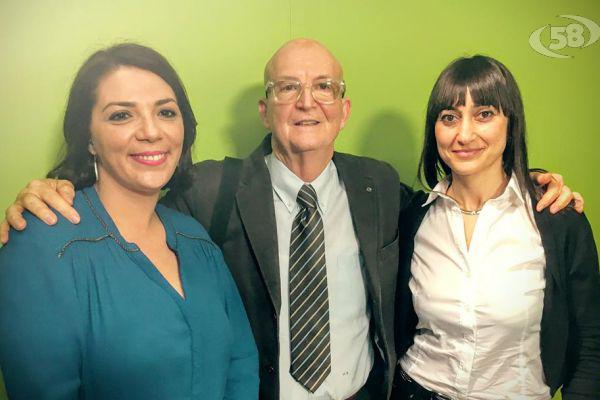 La dietista Perillo con Valentina Bruno e il Prof. Roberti